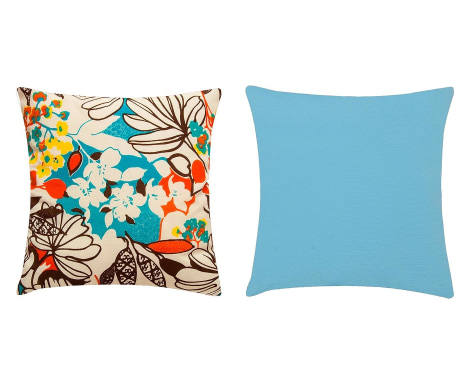 bfbb80e38919 Jogo de Capas de Almofada Floral Azul - 45x45cm Verificar disponibilidade  ...