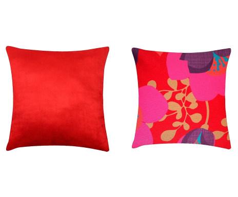 99b84d926737 ... Jogo de Capas de Almofada Floral Vermelho - 45x45cm Verificar  disponibilidade ...